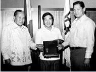 フィリピン共和国アブラ州 バンゲット市名誉市民賞受賞